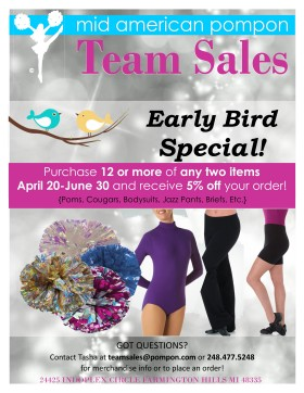Team Sales Discount Flyer 2016