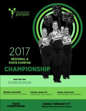 Mid American Pompon State Championship 2017 Brochure Cover